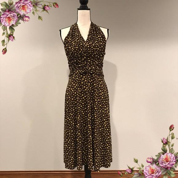 Sleeveless summer dot print dress